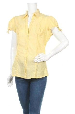 Γυναικείο πουκάμισο Q/S by S.Oliver, Μέγεθος L, Χρώμα Κίτρινο, Τιμή 11,04€