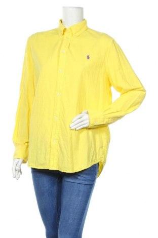 Дамска риза Ralph Lauren, Размер XL, Цвят Жълт, Памук, Цена 139,00лв.