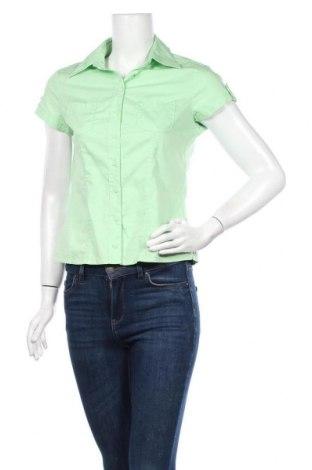 Дамска риза Street One, Размер S, Цвят Зелен, 68% памук, 29% полиамид, 3% еластан, Цена 17,85лв.