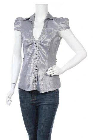 Γυναικείο πουκάμισο Tally Weijl, Μέγεθος XL, Χρώμα Γκρί, 37% πολυεστέρας, 31% βαμβάκι, 27% πολυαμίδη, 5% ελαστάνη, Τιμή 9,74€
