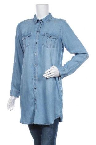 Γυναικείο πουκάμισο Vero Moda, Μέγεθος M, Χρώμα Μπλέ, Lyocell, Τιμή 17,79€