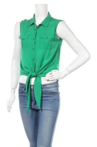 Γυναικείο πουκάμισο Vert De Rage, Μέγεθος L, Χρώμα Πράσινο, Βισκόζη, Τιμή 4,68€