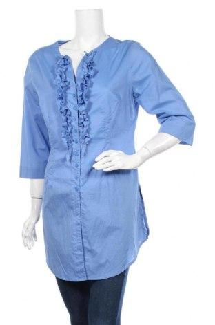 Дамска риза W.O.B. World Of Basics, Размер M, Цвят Син, Памук, Цена 8,51лв.