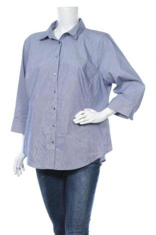 Γυναικείο πουκάμισο Worthington, Μέγεθος XL, Χρώμα Μπλέ, 69% βαμβάκι, 27% πολυεστέρας, 4% ελαστάνη, Τιμή 10,52€