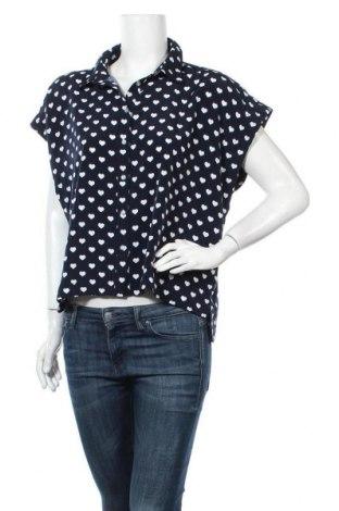 Γυναικείο πουκάμισο Yes Or No, Μέγεθος L, Χρώμα Μπλέ, Πολυεστέρας, Τιμή 9,35€