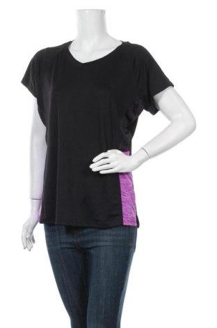 Дамска тениска, Размер XL, Цвят Черен, 95% полиестер, 5% еластан, Цена 9,24лв.