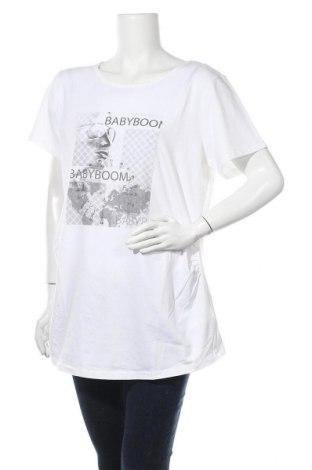 Γυναικείο t-shirt, Μέγεθος XL, Χρώμα Λευκό, 95% βαμβάκι, 5% ελαστάνη, Τιμή 8,04€