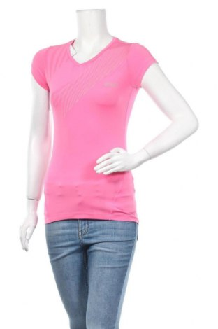 Дамска тениска ASICS, Размер XS, Цвят Розов, 84% полиестер, 16% еластан, Цена 13,44лв.