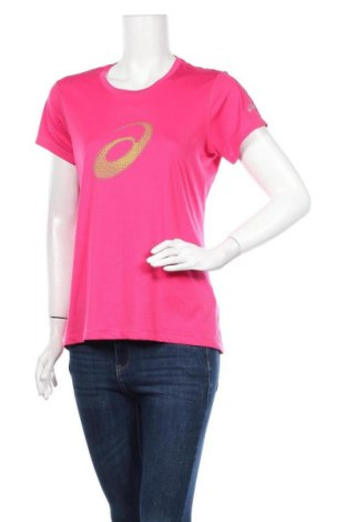 Дамска тениска ASICS, Размер L, Цвят Розов, Полиестер, Цена 16,80лв.