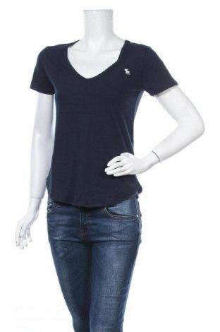 Γυναικείο t-shirt Abercrombie & Fitch, Μέγεθος S, Χρώμα Μπλέ, 100% βαμβάκι, Τιμή 16,24€