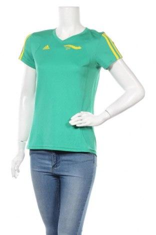 Дамска тениска Adidas, Размер M, Цвят Зелен, Полиестер, Цена 18,48лв.
