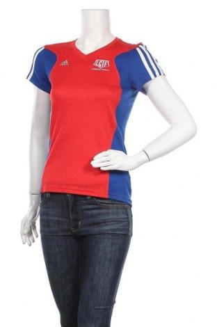 Γυναικείο t-shirt Adidas, Μέγεθος XS, Χρώμα Πολύχρωμο, Πολυεστέρας, Τιμή 23,64€