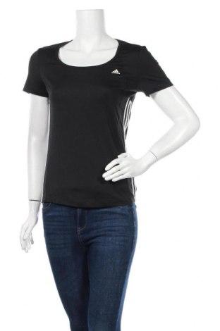 Дамска тениска Adidas, Размер S, Цвят Черен, 88% полиестер, 12% еластан, Цена 17,96лв.