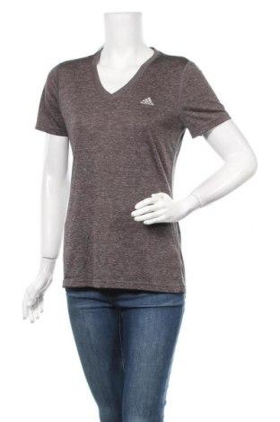 Дамска тениска Adidas, Размер M, Цвят Сив, Полиестер, Цена 23,21лв.