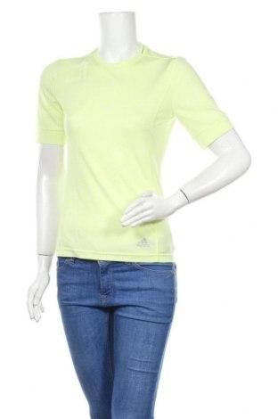 Дамска тениска Adidas, Размер S, Цвят Зелен, Цена 11,34лв.