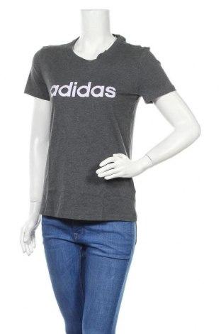 Дамска тениска Adidas, Размер M, Цвят Сив, Памук, Цена 51,75лв.