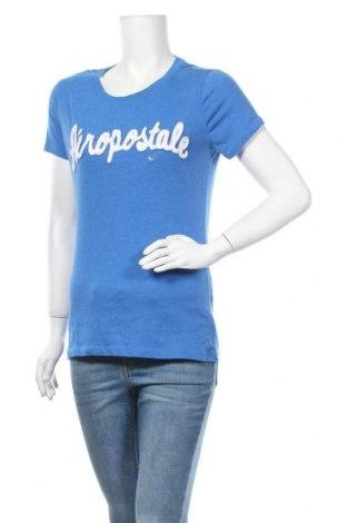 Γυναικείο t-shirt Aeropostale, Μέγεθος L, Χρώμα Μπλέ, 60% βαμβάκι, 40% πολυεστέρας, Τιμή 5,26€