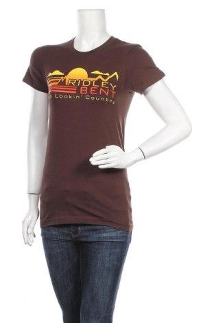 Γυναικείο t-shirt American Apparel, Μέγεθος M, Χρώμα Καφέ, Βαμβάκι, Τιμή 8,28€