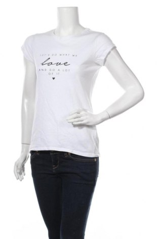 Γυναικείο t-shirt Amisu, Μέγεθος S, Χρώμα Λευκό, Βαμβάκι, Τιμή 10,52€