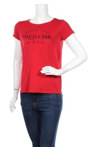 Γυναικείο t-shirt Amisu, Μέγεθος XS, Χρώμα Κόκκινο, 50% βαμβάκι, 50% μοντάλ, Τιμή 9,25€