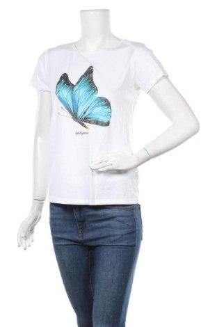 Γυναικείο t-shirt Amisu, Μέγεθος S, Χρώμα Λευκό, 50% βαμβάκι, 50% μοντάλ, Τιμή 11,69€