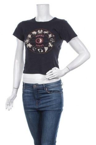 Γυναικείο t-shirt BDG, Μέγεθος M, Χρώμα Μπλέ, Βαμβάκι, Τιμή 10,72€