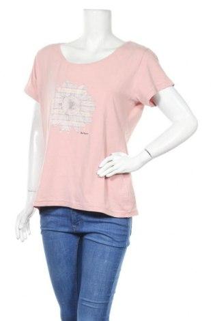 Дамска тениска Barbour, Размер XL, Цвят Розов, 95% памук, 5% еластан, Цена 33,92лв.
