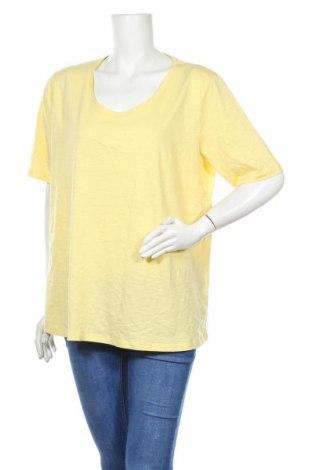 Γυναικείο t-shirt C&A, Μέγεθος L, Χρώμα Κίτρινο, 75% βαμβάκι, 25% μοντάλ, Τιμή 9,74€