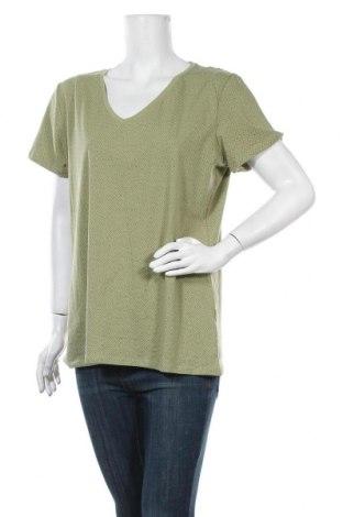 Γυναικείο t-shirt C&A, Μέγεθος XL, Χρώμα Πράσινο, 95% βαμβάκι, 5% ελαστάνη, Τιμή 9,09€