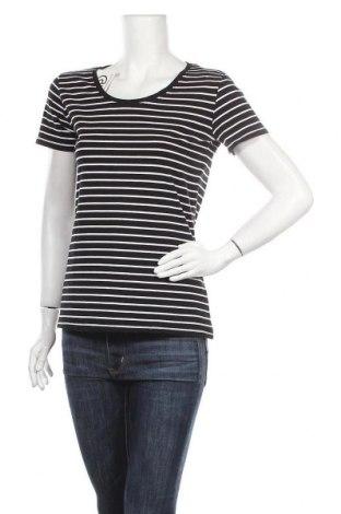 Γυναικείο t-shirt C&A, Μέγεθος M, Χρώμα Μαύρο, 95% βαμβάκι, 5% ελαστάνη, Τιμή 9,09€