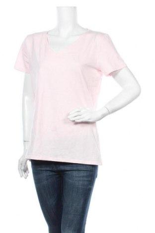 Γυναικείο t-shirt C&A, Μέγεθος L, Χρώμα Ρόζ , 95% βαμβάκι, 5% ελαστάνη, Τιμή 10,49€