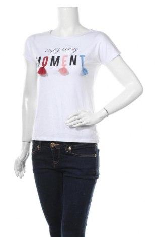 Γυναικείο t-shirt Cache Cache, Μέγεθος M, Χρώμα Λευκό, Τιμή 10,39€