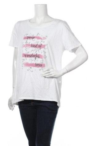 Дамска тениска Cecil, Размер XL, Цвят Бял, Памук, Цена 15,12лв.
