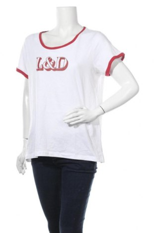 Дамска тениска Chicoree, Размер XL, Цвят Бял, Памук, Цена 24,15лв.