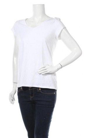 Γυναικείο t-shirt Clockhouse, Μέγεθος XL, Χρώμα Λευκό, 95% βαμβάκι, 5% ελαστάνη, Τιμή 16,89€