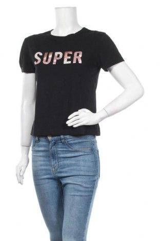 Γυναικείο t-shirt Clockhouse, Μέγεθος S, Χρώμα Μαύρο, Βαμβάκι, Τιμή 9,87€