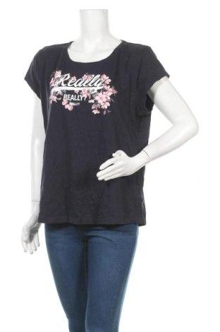 Дамска тениска Colours Of The World, Размер XL, Цвят Син, Памук, Цена 15,12лв.
