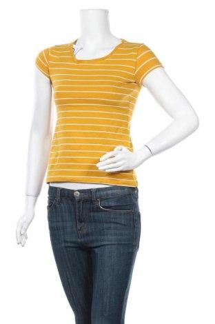 Дамска тениска Colours Of The World, Размер XS, Цвят Жълт, 96% памук, 4% еластан, Цена 13,97лв.