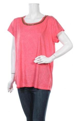 Дамска тениска Colours Of The World, Размер XL, Цвят Розов, Памук, Цена 16,96лв.