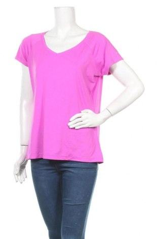 Дамска тениска Columbia, Размер L, Цвят Розов, 85% полиестер, 15% еластан, Цена 26,25лв.