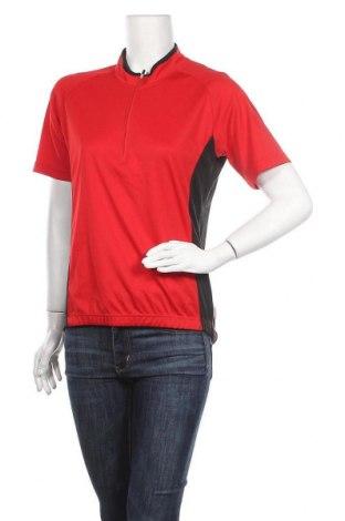 Дамска тениска Disegna, Размер L, Цвят Червен, Полиестер, Цена 13,39лв.