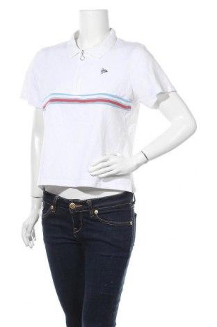 Γυναικείο t-shirt Dunlop, Μέγεθος XL, Χρώμα Λευκό, Βαμβάκι, Τιμή 6,07€