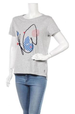 Γυναικείο t-shirt Esprit, Μέγεθος M, Χρώμα Γκρί, 95% βαμβάκι, 5% ελαστάνη, Τιμή 11,69€