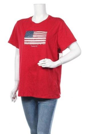 Γυναικείο t-shirt Faded Glory, Μέγεθος XXL, Χρώμα Κόκκινο, Βαμβάκι, Τιμή 16,37€