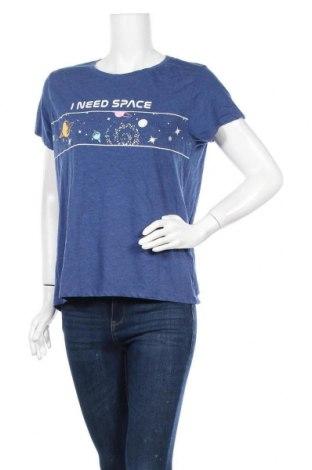 Γυναικείο t-shirt Fb Sister, Μέγεθος L, Χρώμα Μπλέ, Τιμή 9,74€