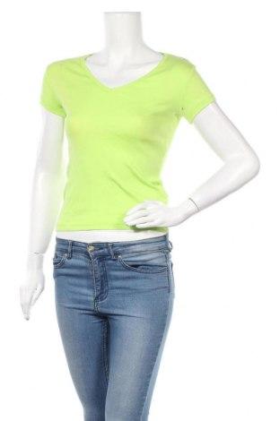 Γυναικείο t-shirt Fishbone, Μέγεθος S, Χρώμα Πράσινο, Βαμβάκι, Τιμή 9,87€
