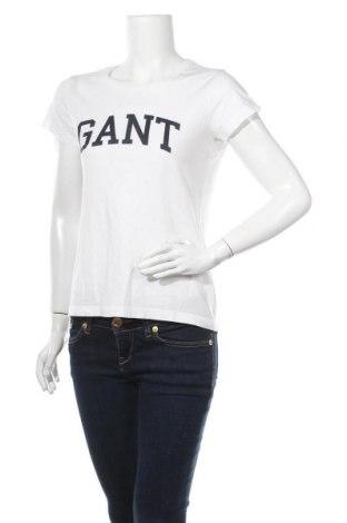 Дамска тениска Gant, Размер S, Цвят Бял, Цена 59,25лв.