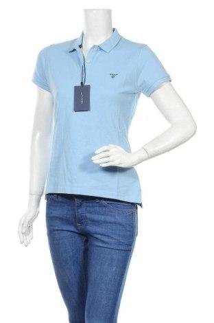 Дамска тениска Gant, Размер M, Цвят Син, Памук, Цена 59,80лв.