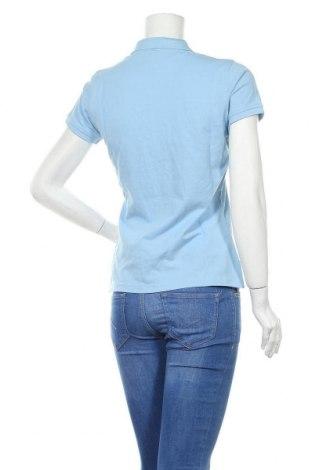 Дамска тениска Gant, Размер M, Цвят Син, Памук, Цена 53,36лв.