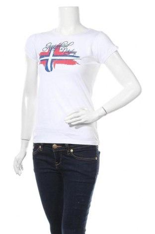 Дамска тениска Geographical Norway, Размер XS, Цвят Бял, Памук, Цена 27,60лв.